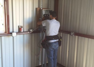 Metal Building Electrical Circuit Panel Installation